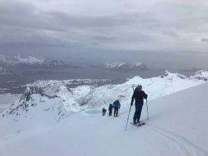 Islas Lofoten en esquís