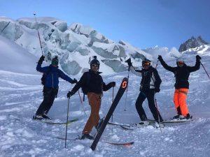 Descenso en esquís de la Vallee Blanche